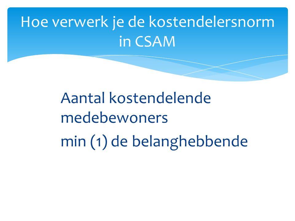 Hoe verwerk je de kostendelersnorm in CSAM