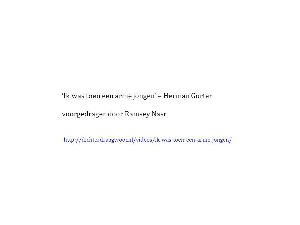 'Ik was toen een arme jongen' – Herman Gorter