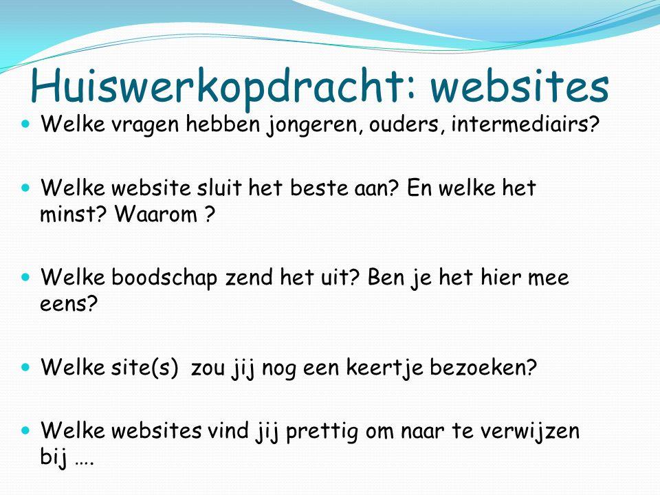 Huiswerkopdracht: websites