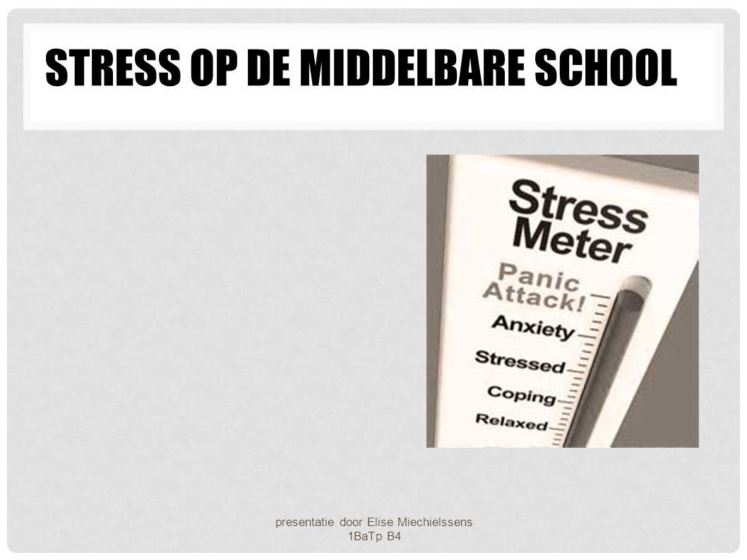 Stress op de middelbare school