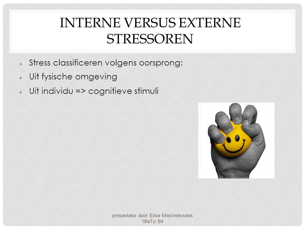 Interne versus externe stressoren