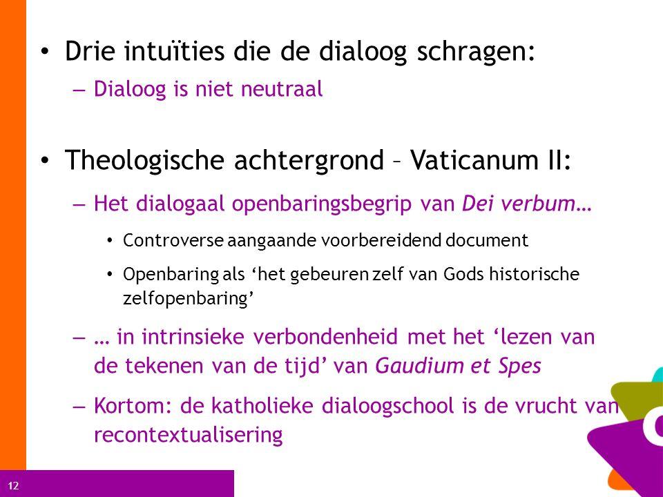 Drie intuïties die de dialoog schragen: