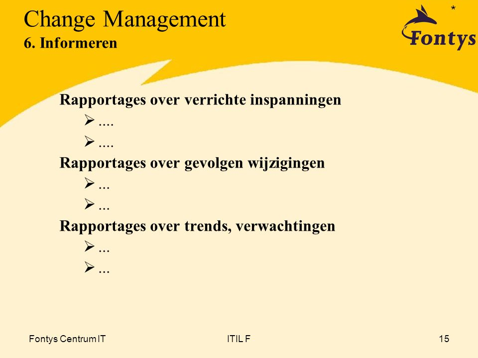 Change Management 6. Informeren