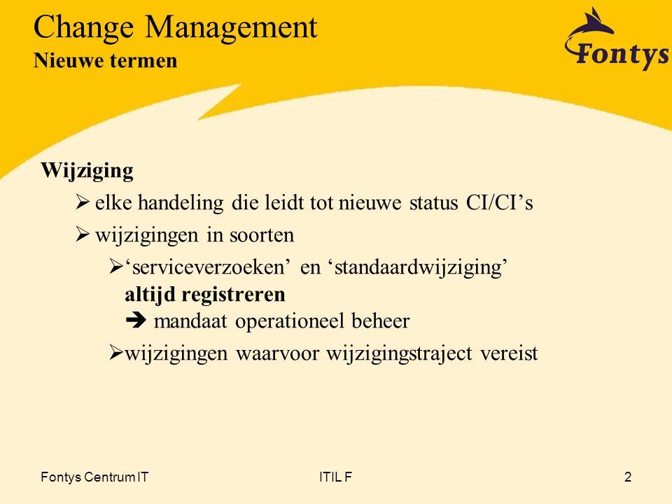 Change Management Nieuwe termen