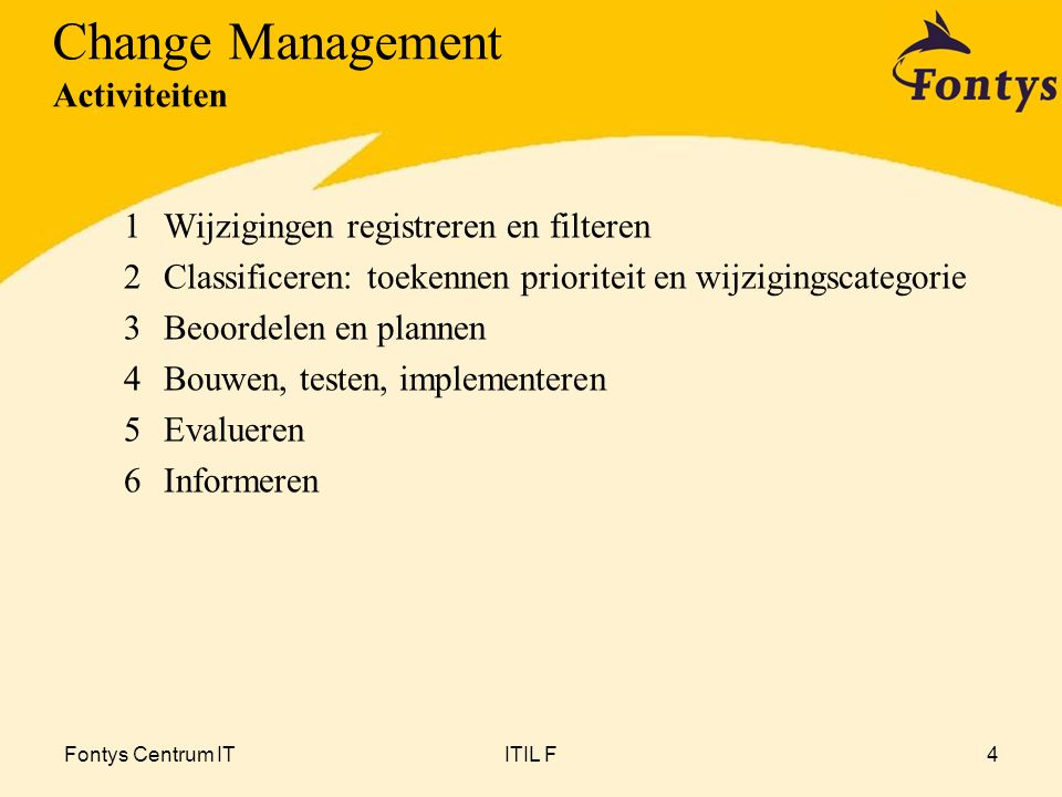 Change Management Activiteiten