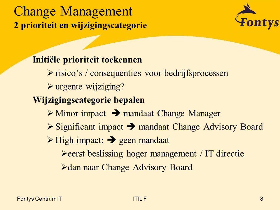 Change Management 2 prioriteit en wijzigingscategorie