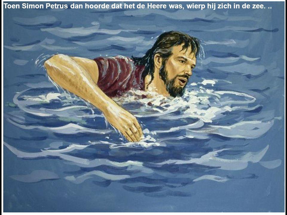 Toen Simon Petrus dan hoorde dat het de Heere was, wierp hij zich in de zee. ..