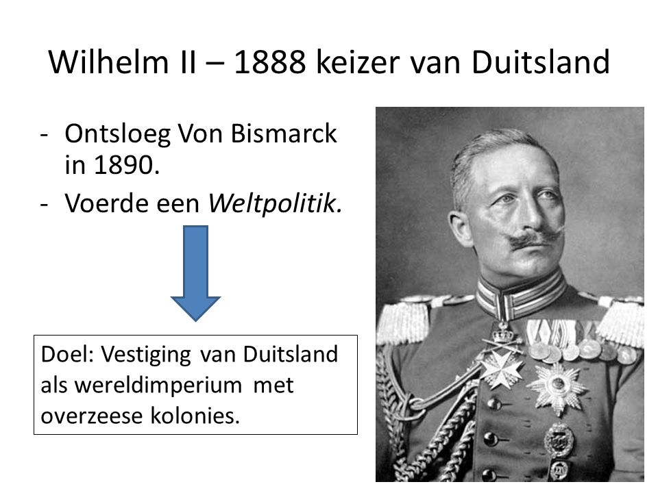 Wilhelm II – 1888 keizer van Duitsland