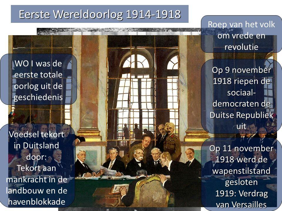 Eerste Wereldoorlog 1914-1918 Roep van het volk om vrede en revolutie
