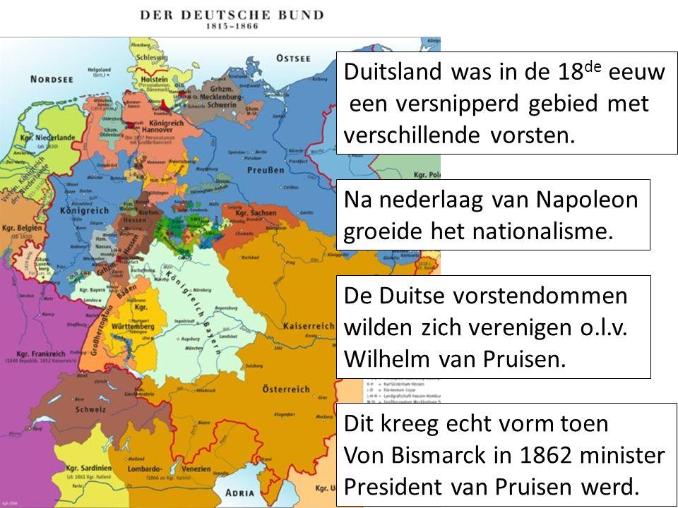 Duitsland was in de 18de eeuw