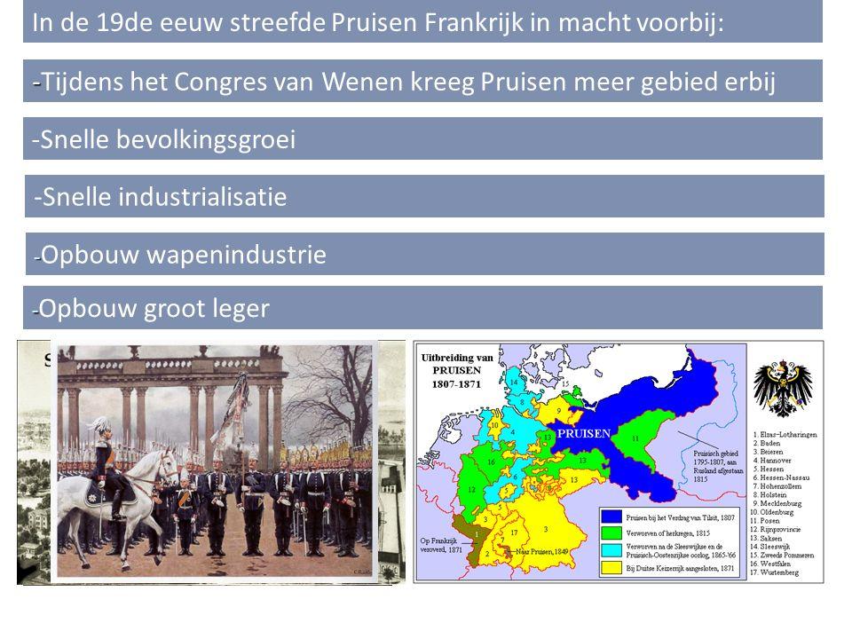 In de 19de eeuw streefde Pruisen Frankrijk in macht voorbij: