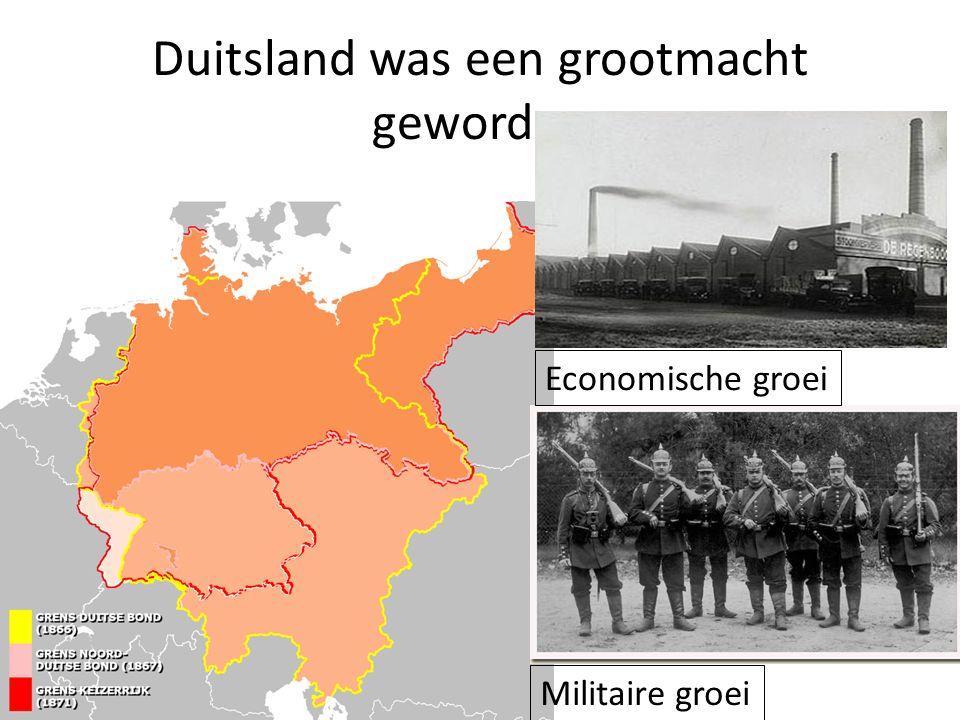 Duitsland was een grootmacht geworden