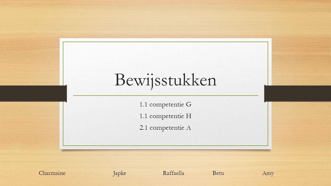 1.1 competentie G 1.1 competentie H 2.1 competentie A
