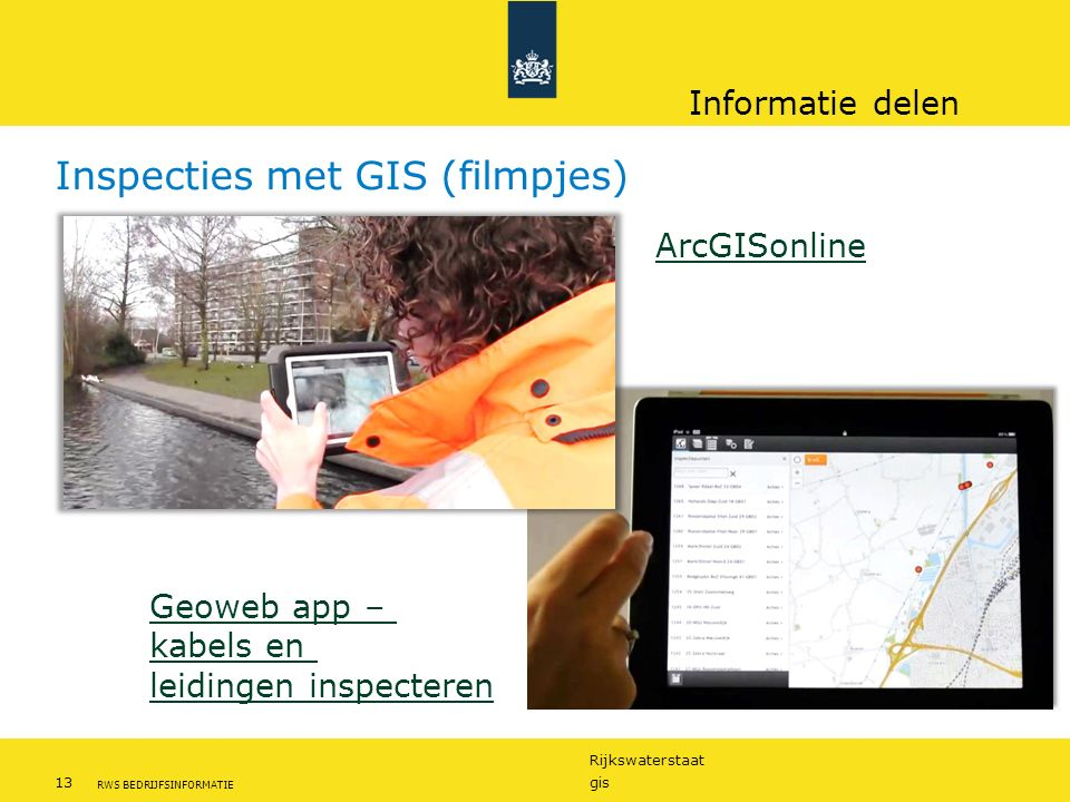 Inspecties met GIS (filmpjes)