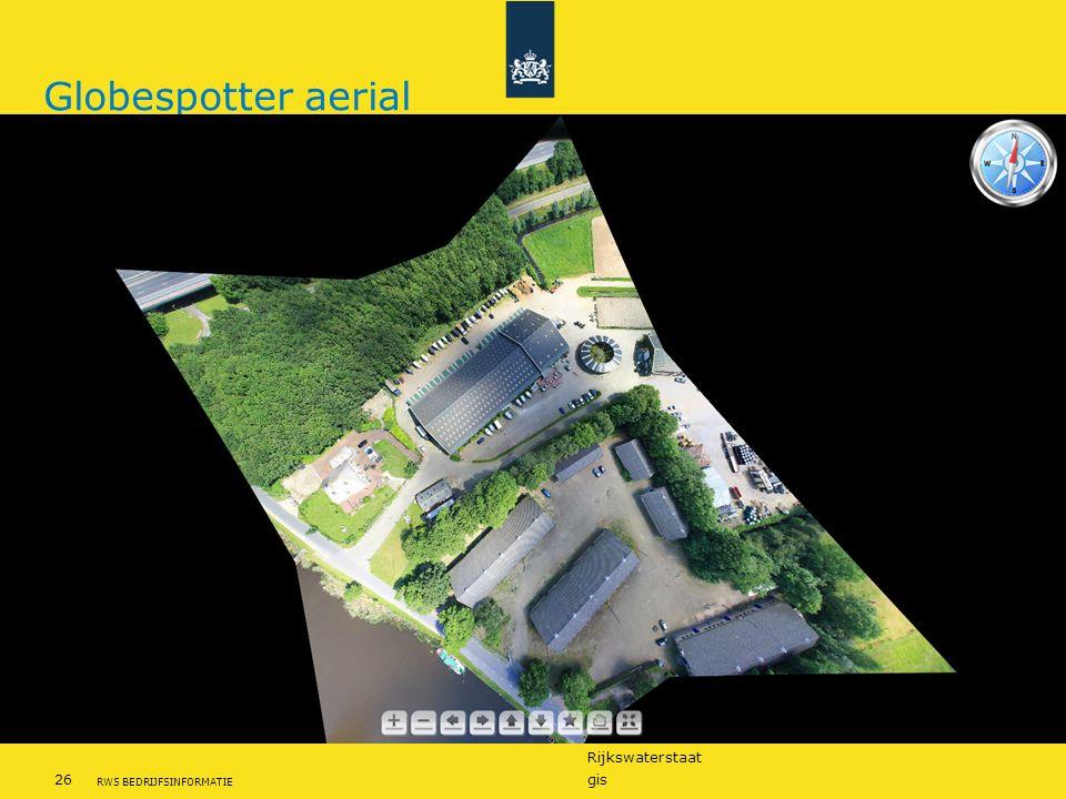 Globespotter aerial Eventuele voettekst