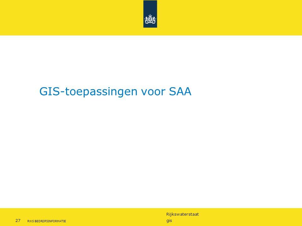 GIS-toepassingen voor SAA