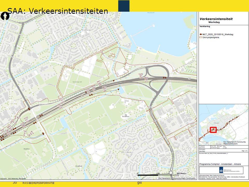 SAA: Verkeersintensiteiten
