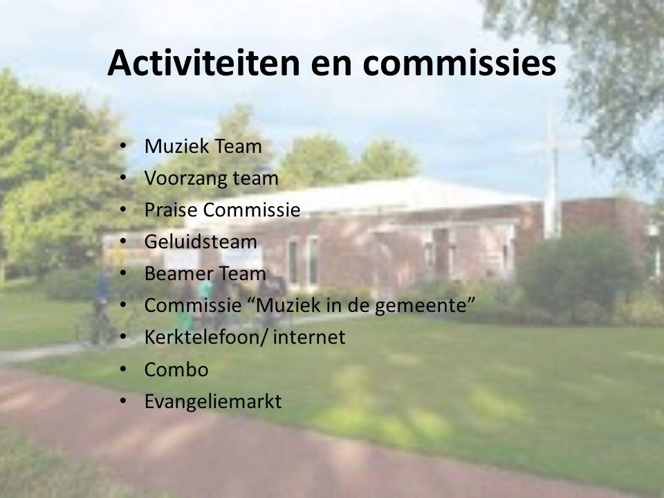 Activiteiten en commissies