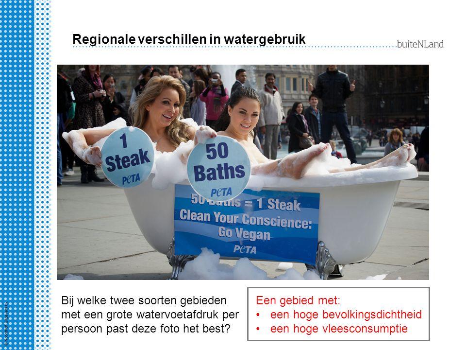 Regionale verschillen in watergebruik