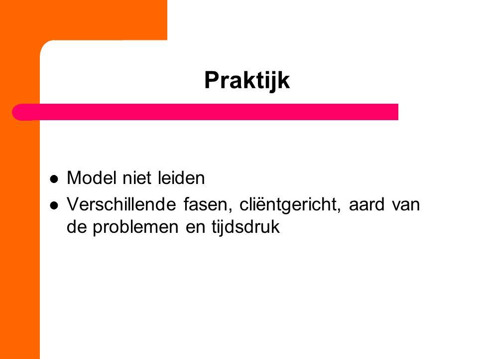 Praktijk Model niet leiden