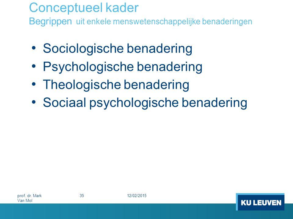 Sociologische benadering Psychologische benadering
