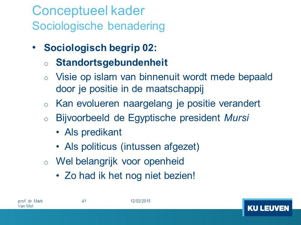 Conceptueel kader Sociologische benadering