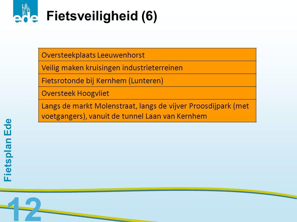 Fietsveiligheid (6) Fietsplan Ede Oversteekplaats Leeuwenhorst