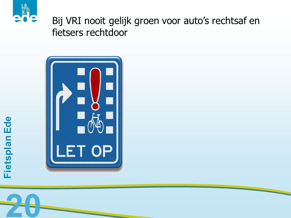 Bij VRI nooit gelijk groen voor auto's rechtsaf en fietsers rechtdoor