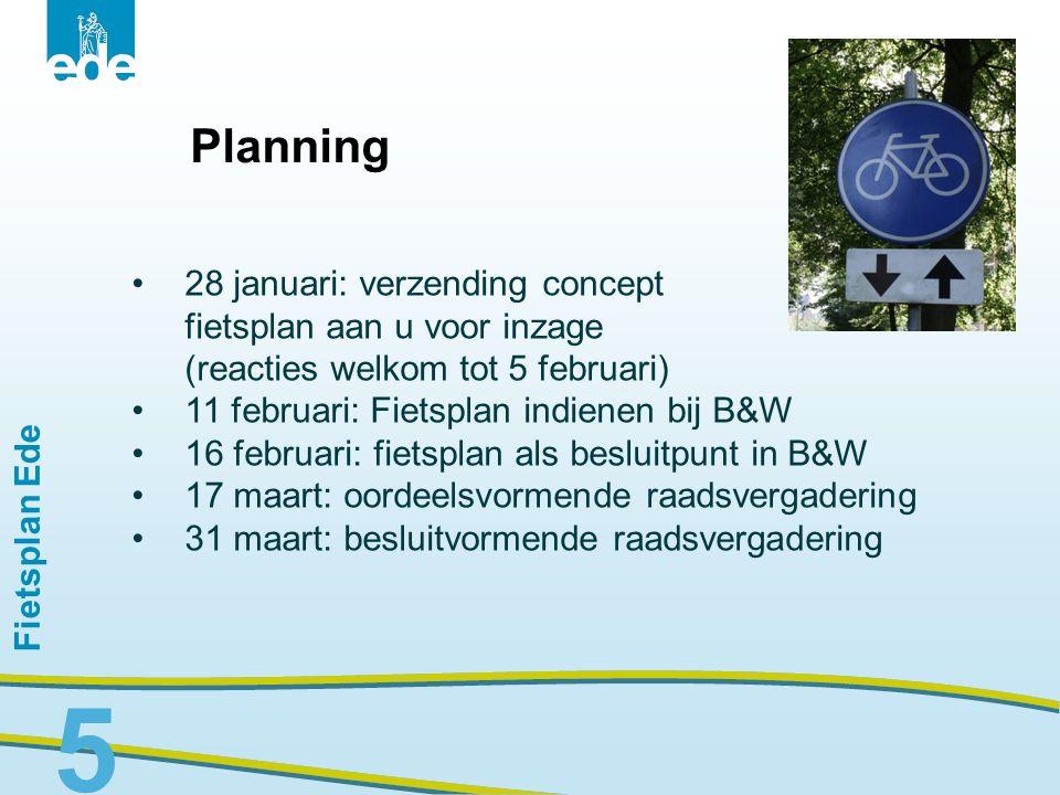 Planning 28 januari: verzending concept