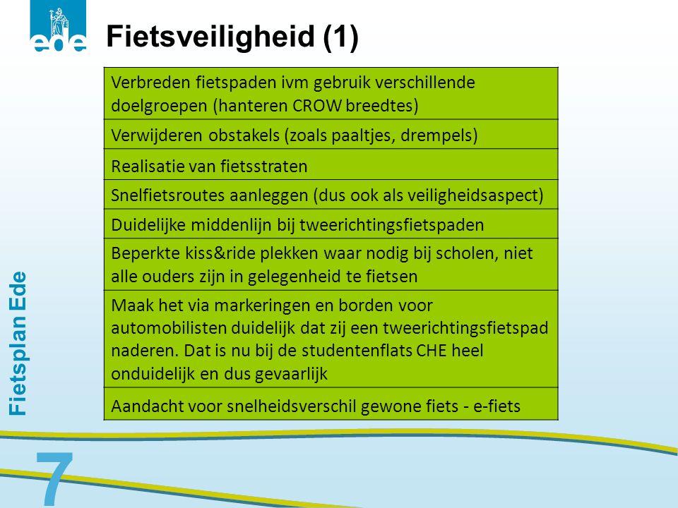 Fietsveiligheid (1) Fietsplan Ede