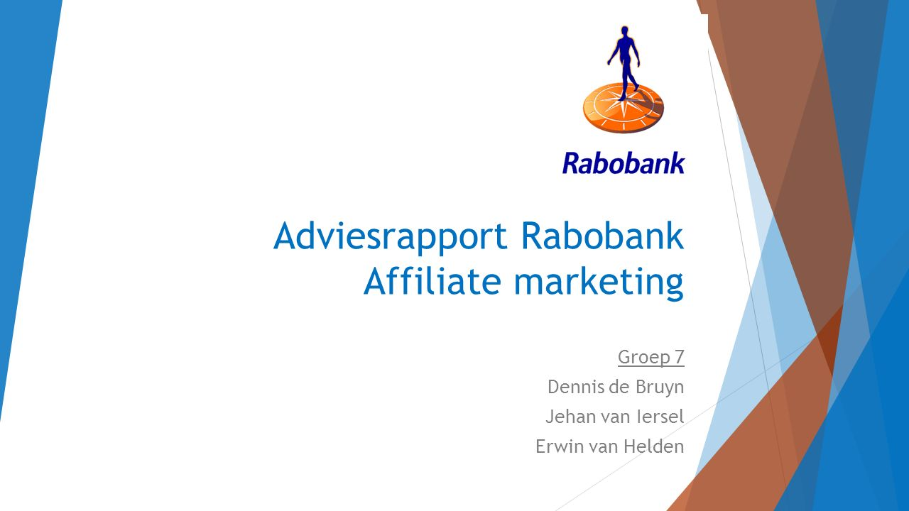 Adviesrapport Rabobank Affiliate marketing