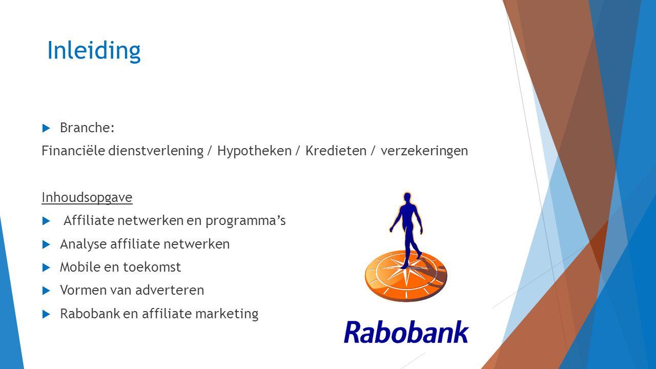 Inleiding Branche: Financiële dienstverlening / Hypotheken / Kredieten / verzekeringen. Inhoudsopgave.