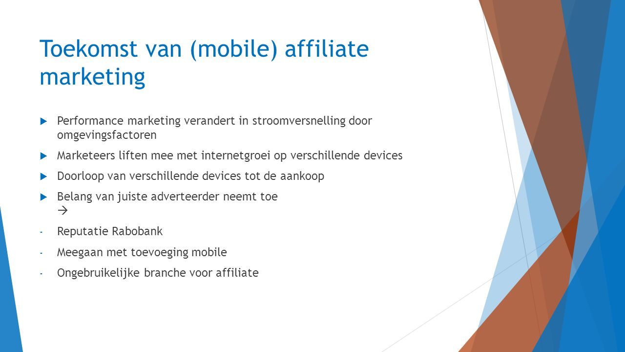 Toekomst van (mobile) affiliate marketing