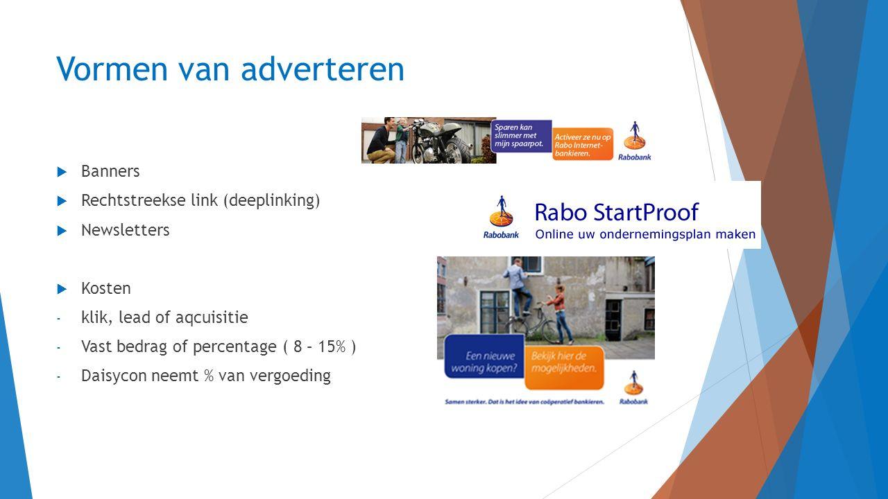 Vormen van adverteren Banners Rechtstreekse link (deeplinking)