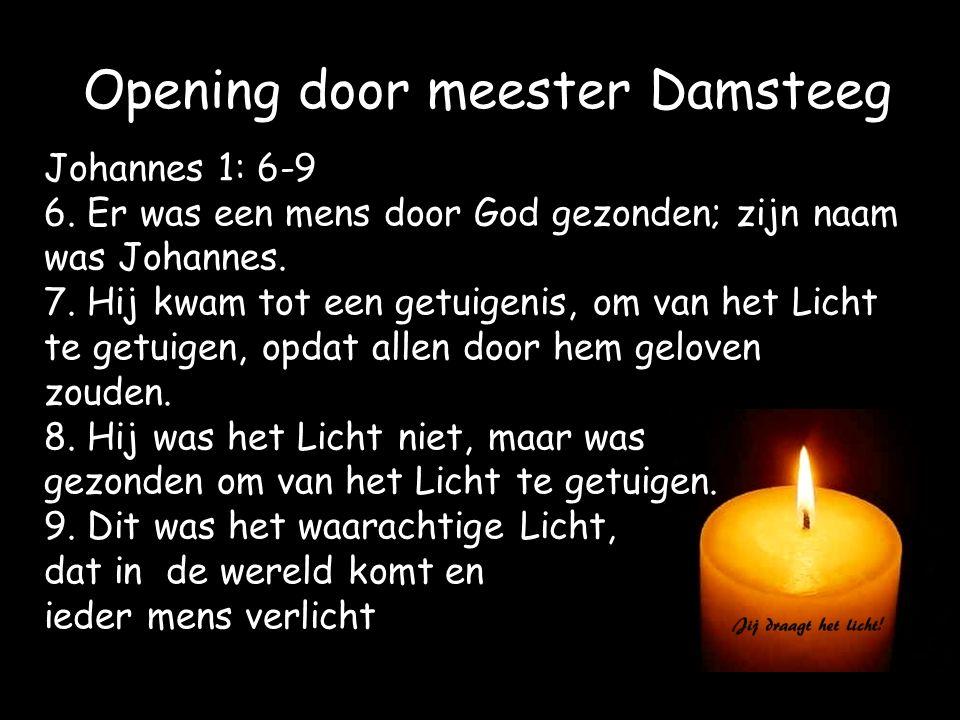 Opening door meester Damsteeg