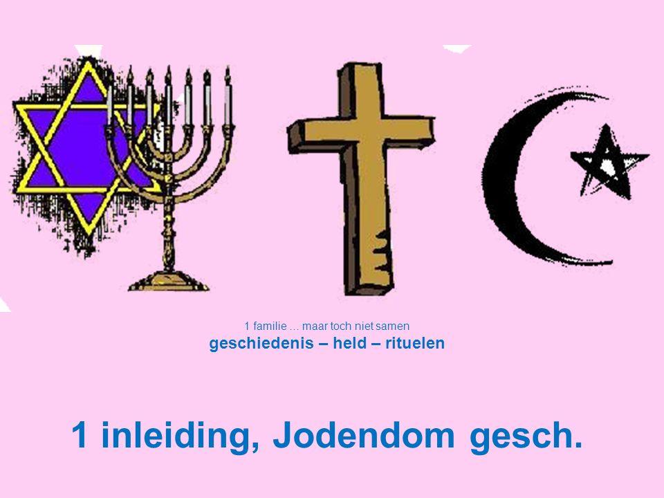 geschiedenis – held – rituelen 1 inleiding, Jodendom gesch.