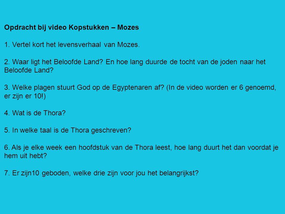Opdracht bij video Kopstukken – Mozes