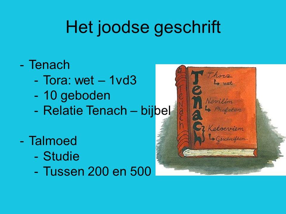 Het joodse geschrift Tenach Tora: wet – 1vd3 10 geboden
