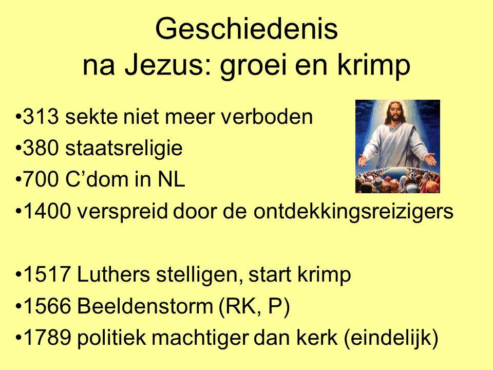 Geschiedenis na Jezus: groei en krimp