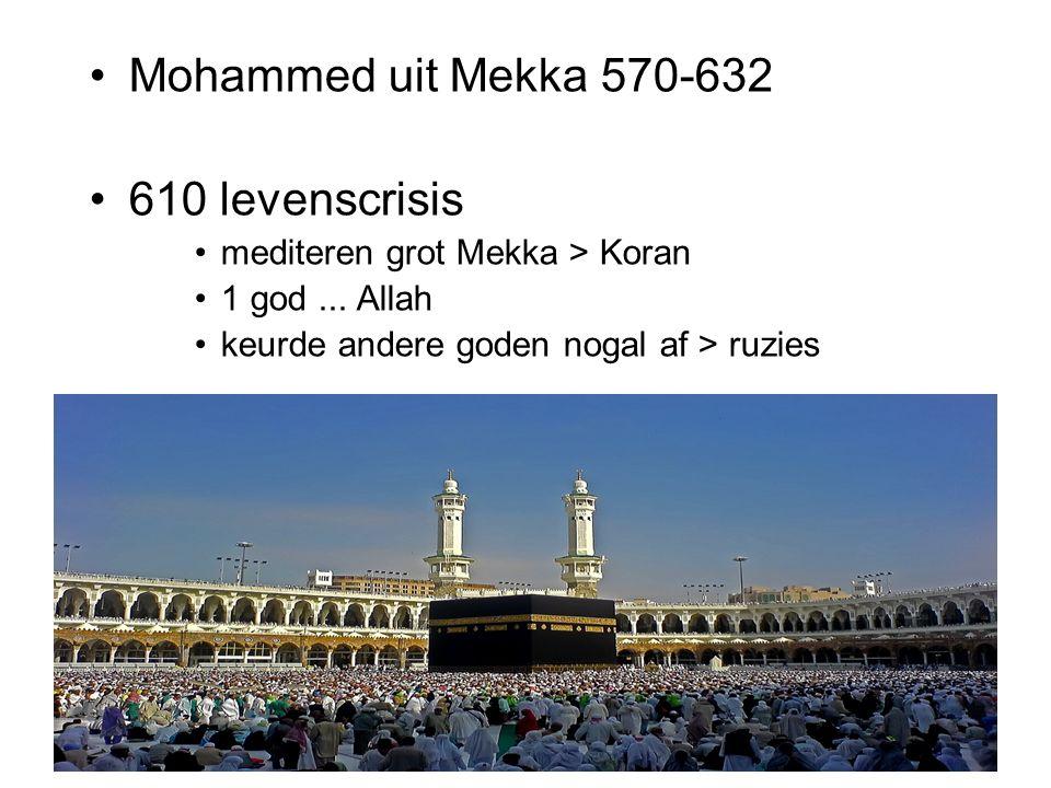 Mohammed uit Mekka 570-632 610 levenscrisis