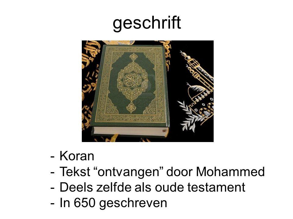 geschrift Koran Tekst ontvangen door Mohammed