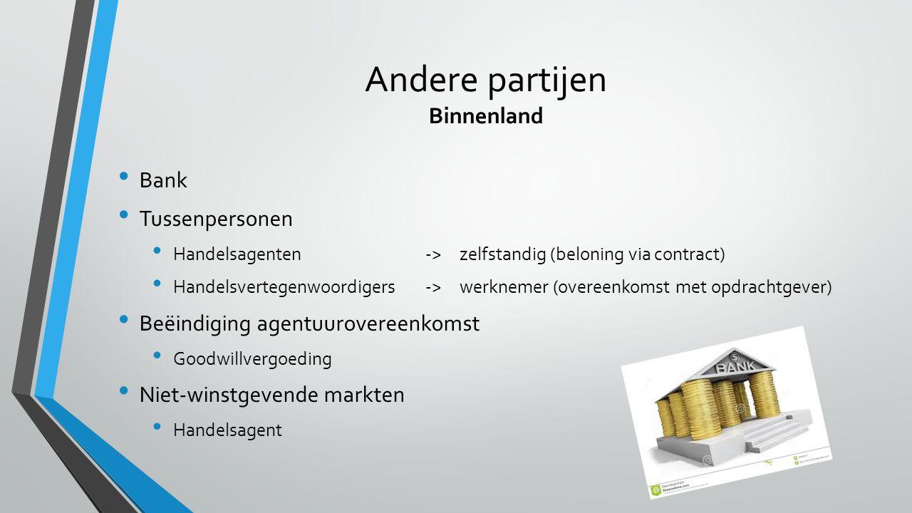 Andere partijen Binnenland