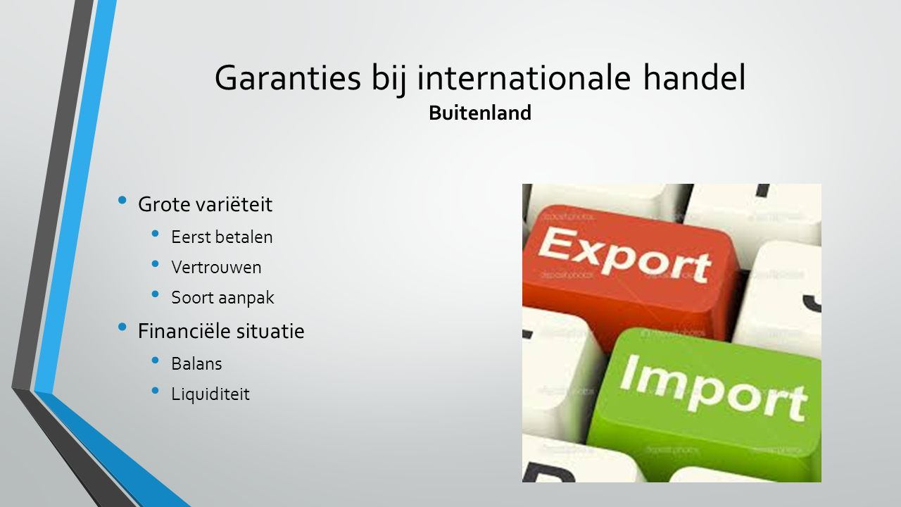 Garanties bij internationale handel Buitenland