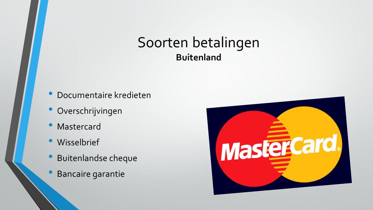 Soorten betalingen Buitenland
