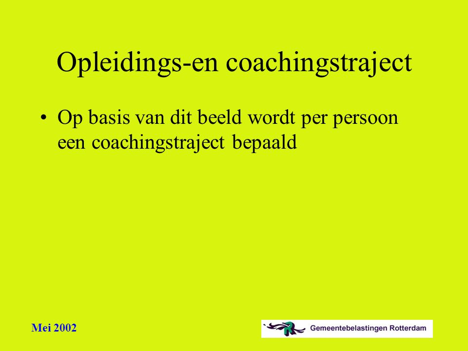 Opleidings-en coachingstraject
