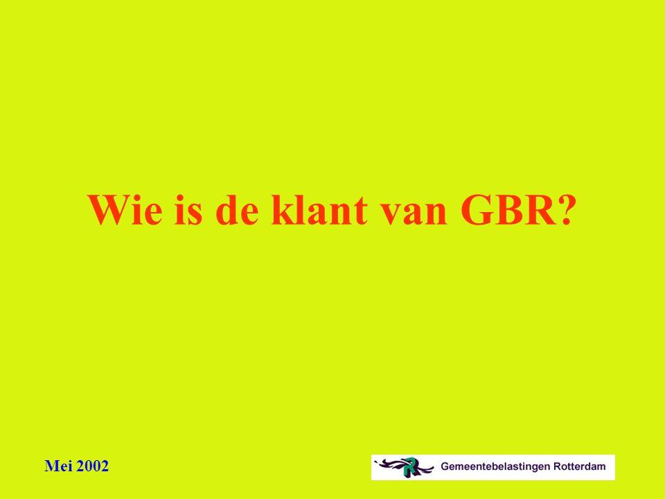 Wie is de klant van GBR