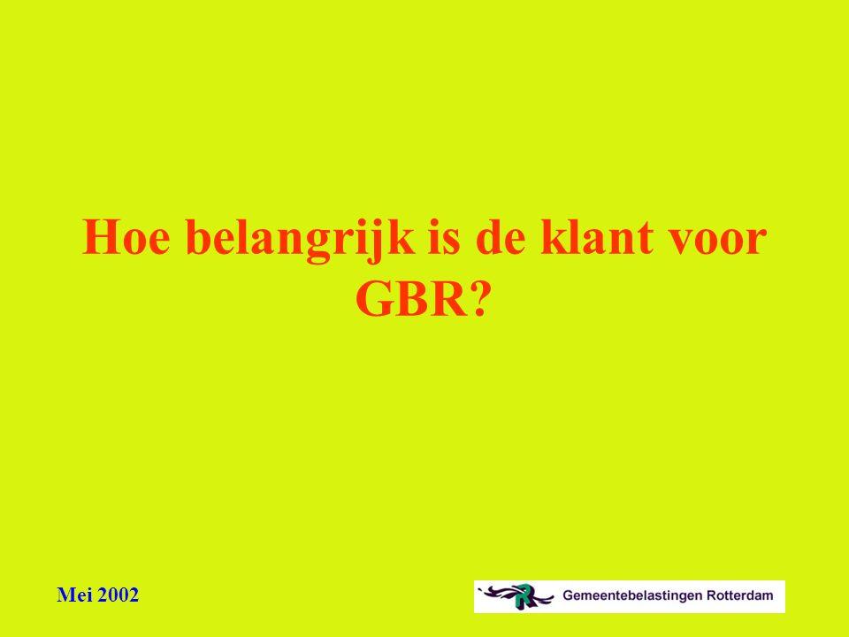 Hoe belangrijk is de klant voor GBR