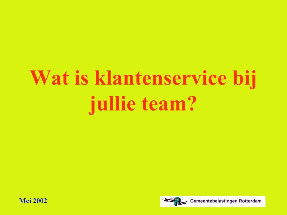 Wat is klantenservice bij jullie team