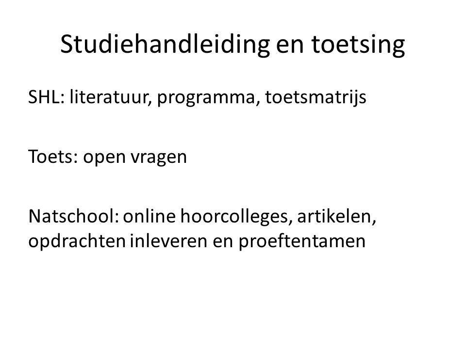 Studiehandleiding en toetsing