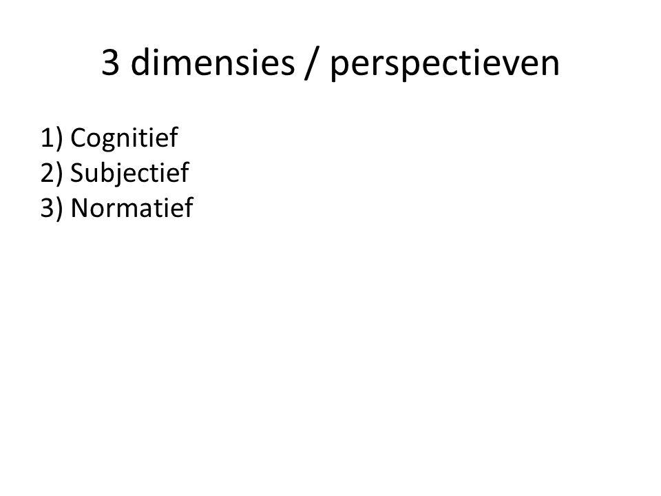 3 dimensies / perspectieven